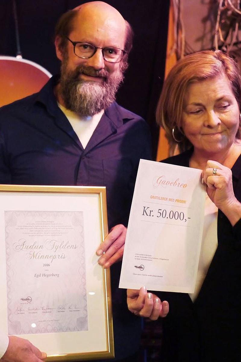Egil Hegerberg, Tyldenprisen 2016