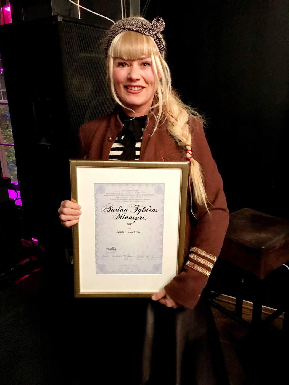 Unni Wilhelmsen, Tyldenprisen 2017